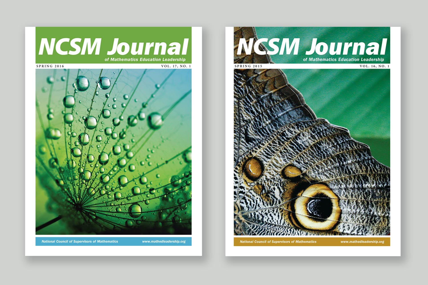 Bonnie Katz Design, NCSM Journal covers 2015-2016