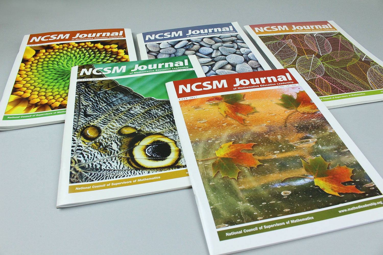 Bonnie Katz Design, grouping of NCSM Journal covers